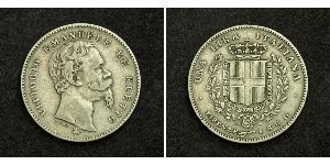 1 Lira Italia Plata Umberto I (1844-1900)