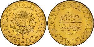 500 Piastre Osmanisches Reich (1299-1923) Gold Abdülhamid II (1842 - 1918)
