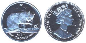 1 Crown Isle of Man Silber