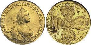 5 Rublo Impero russo (1720-1917) Oro Caterina II (1729-1796)