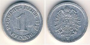 1 Пфеніг Німецька імперія (1871-1918) Алюміній