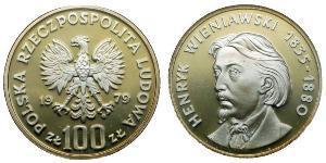 100 Zloty Repubblica Popolare di Polonia (1952-1990)