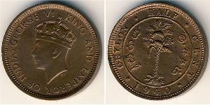 1/2 Cent Sri Lanka Bronze Georg VI (1895-1952)