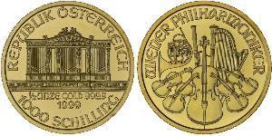1000 Shilling Republic of Austria (1955 - ) Oro