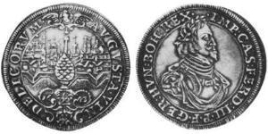 1/2 Thaler 奥格斯堡 (1276 - 1803 Augsburg) 銀 斐迪南三世 (神圣罗马帝国) (1608-1657)