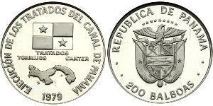 200 Balboa Panamá Platino