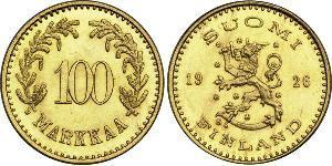 100 Марка Финляндия (1917 - ) Золото