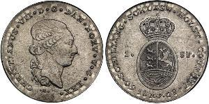 1 Daler / 1 Speciedaler Denmark-Norway (1536-1814) Silver Christian VIII of Denmark (1786 - 1848)