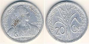 20 Cent Indocina francese (1887-1954) Alluminio