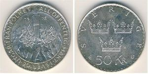 50 Krone Sweden Silver