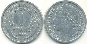 1 Franc Francia Alluminio