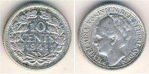 10 Цент Королевство Нидерланды (1815 - ) Серебро