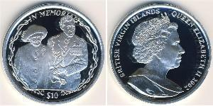 10 Dollar Îles Vierges Argent