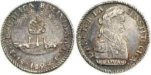 1 Sol Bolivia (1825 - ) Argento