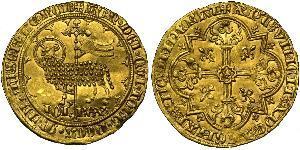 1 Franc Reino de Francia (843-1791) Oro Juan II de Francia(1319-1364)