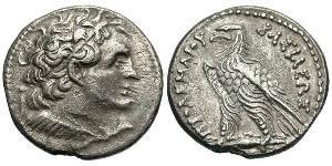 1 Tetradrachm 托勒密王國 (305 BC - 30 BC) 銀 Ptolemy V Epiphanes (210-181BC)