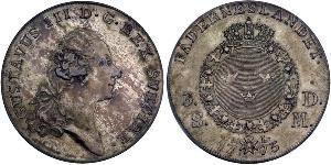 1 Riksdaler Sweden Silver Gustav III of Sweden (1746 - 1792)