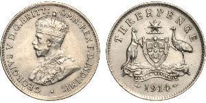 1 Threepence Австралия (1788 - 1939) Серебро Георг V (1865-1936)