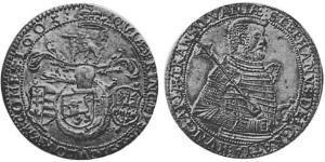 1 Thaler 外西凡尼亞公國 (鄂圖曼帝國) (1570 - 1711) 銀