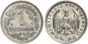1 Reichsmark Третий рейх (1933-1945) Никель