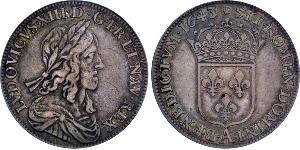 1 Ecu Francia medioevale (843-1791) Argento Luigi XIII di Francia (1601 - 1643)