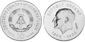 10 Mark République démocratique allemande (1949-1990) Argent