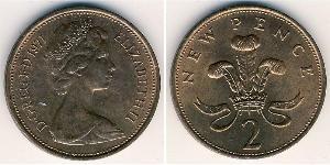 2 Penny Vereinigtes Königreich Bronze
