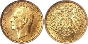 10 Mark Grand Duchy of Baden (1806-1918) Oro Federico II di Baden (1857 - 1928)