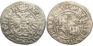 1/2 Batz 联邦州 (德国) 銀 鲁道夫二世 (神圣罗马帝国) (1552 - 1612)