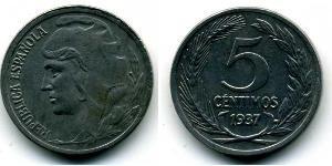 5 Centimo Segunda República Española (1931 - 1939) Iron