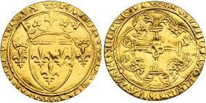 1 Ecu 中世纪的法国 金 查理七世 (法兰西)(1403 - 1461)