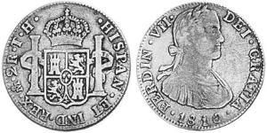 2 Real Virreinato de Nueva España (1519 - 1821) Plata Carlos IV de España (1748-1819)