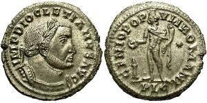 1 Follis 羅馬帝國 青铜 Diocletian (244-311)