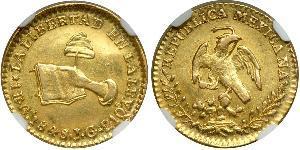 1 Escudo Estados Unidos Mexicanos (1846 - 1863) Oro