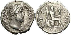 1 Денарий Римская империя (27BC-395) Серебро Адриан (76 - 138)