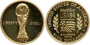 5 Dólar Estados Unidos de América (1776 - ) Oro