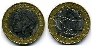 1000 Lira 意大利 Bimetal