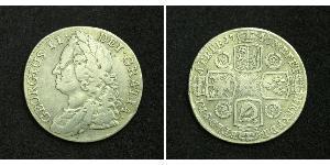 1 Shilling British Empire (1497 - 1949) Silver George II (1683-1760)
