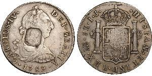 8 Real Imperio español (1700 - 1808) Plata Carlos IV de España (1748-1819)