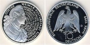 10 Марка Німеччина Срібло