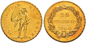 32 Franc Switzerland Gold
