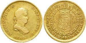 4 Escudo Perù Oro Ferdinando VII di Spagna (1784-1833)
