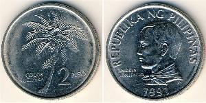 2 Peso Philippines Acier