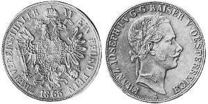 2 Thaler Imperio austríaco (1804-1867) Plata