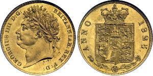1/2 Соверен Сполучене королівство Великобританії та Ірландії (1801-1922) Золото Георг IV (1762-1830)