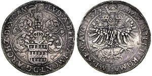 1 Daalder Royaume des Pays-Bas (1815 - ) Argent Maximilien II du Saint-Empire(1527- 1576)
