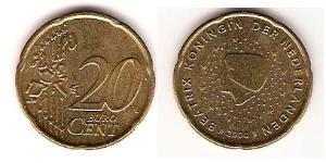 20 Eurocent Kingdom of the Netherlands (1815 - ) Tin/Aluminium/Copper/Zinc