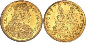 1 Дукат Аугсбург (1276 - 1803) Золото Карл VI імператор Священної Римської імперії  (1685-1740)