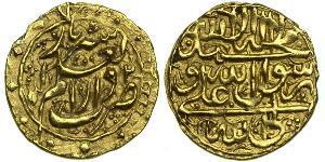 1/4 Mohur Irán / Dinastía Zand (1750-1794) Oro Karim Khan Zand (1705- 1779)