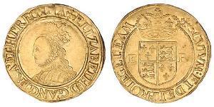 1/2 Фунт Королівство Англія (927-1649,1660-1707) Золото Єлизавета I (1533-1603)